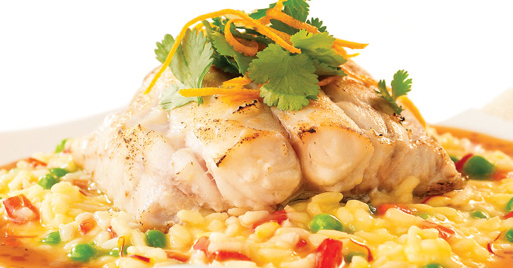 grouper and risotto
